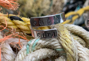 Sterling silver cuff ring - cape cod girl