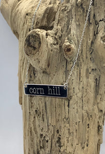 Sterling corn hill bar necklace