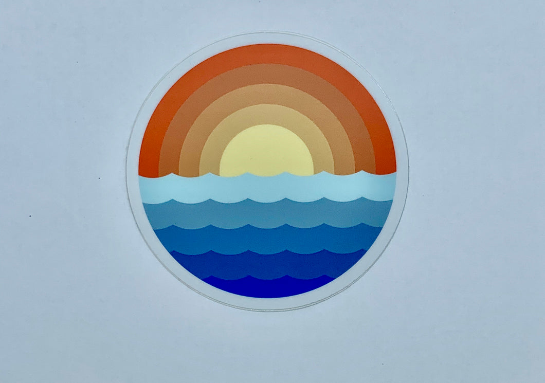 Rainbow sun decal