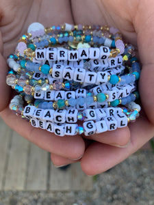 Little words bracelets - coastal