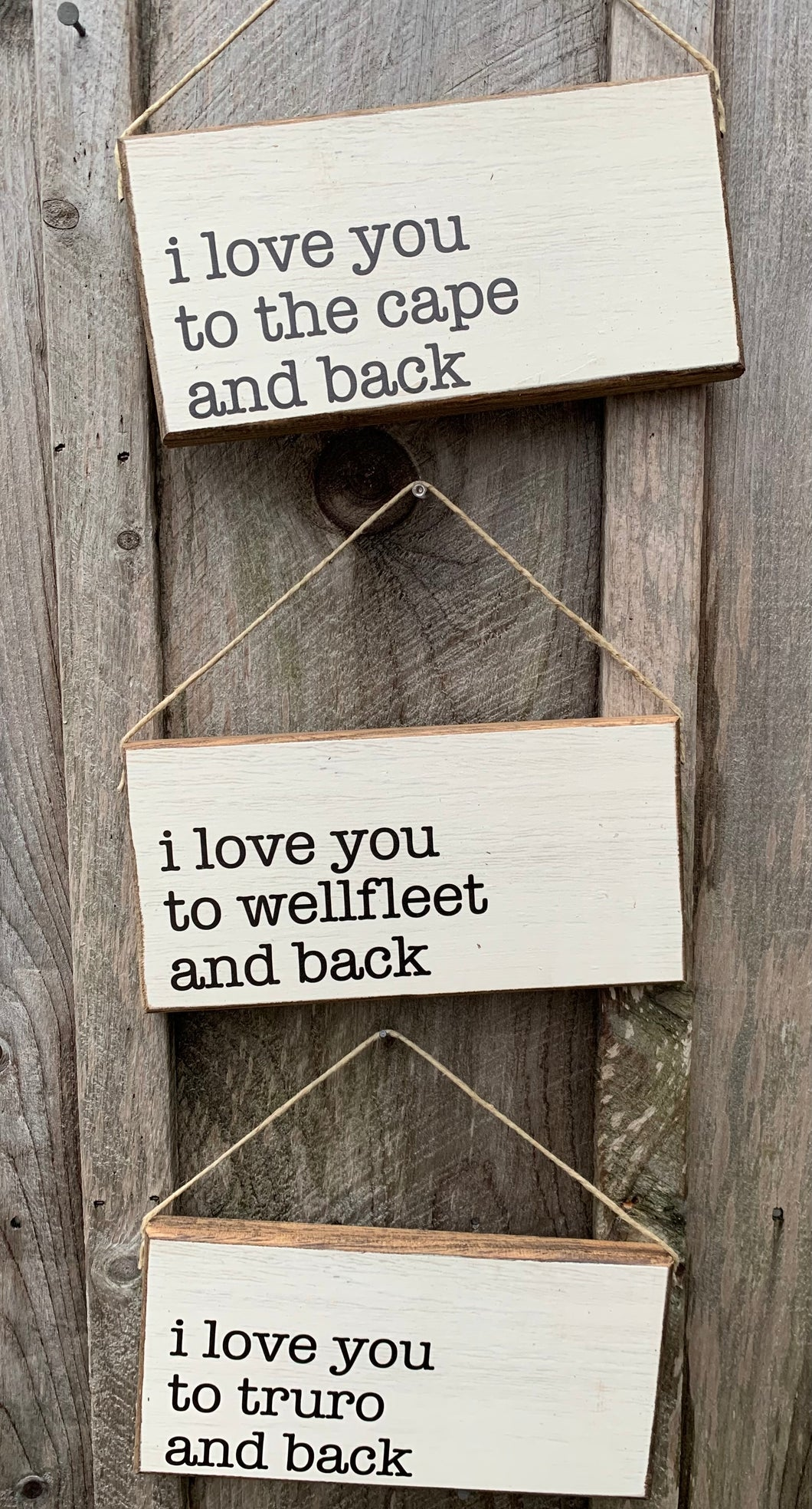 I love you hanging signs