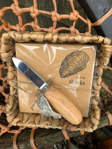 Oyster knife and napkin set