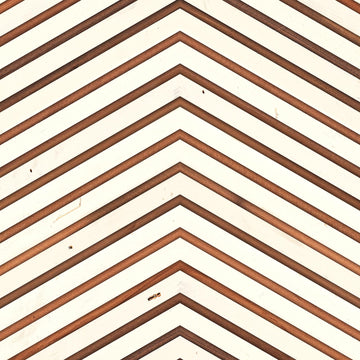 TIM-04 White on teak chevron Timber Strips
