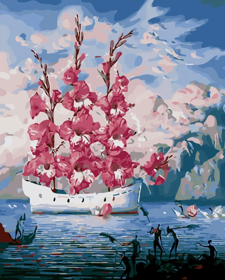 Boat Landscape Diy Paint By Numbers Kits PBN95003