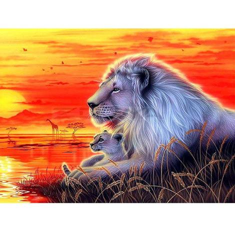 Animal Lion Paint By Numbers Kits PBN90989