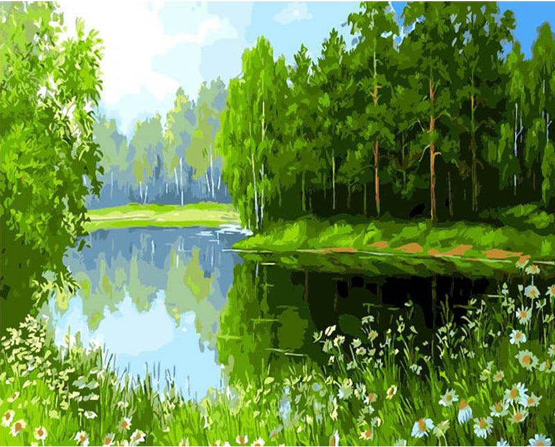 Landscape Nature Forest Diy Paint By Numbers Kits PBN90871