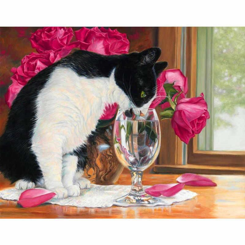 Lovely Cat Diy Paint By Numbers Kits VM91172
