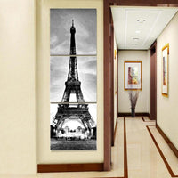 3PCS Multi Panel Eiffel Tower Diy Paint By Numbers Kits PBN94320