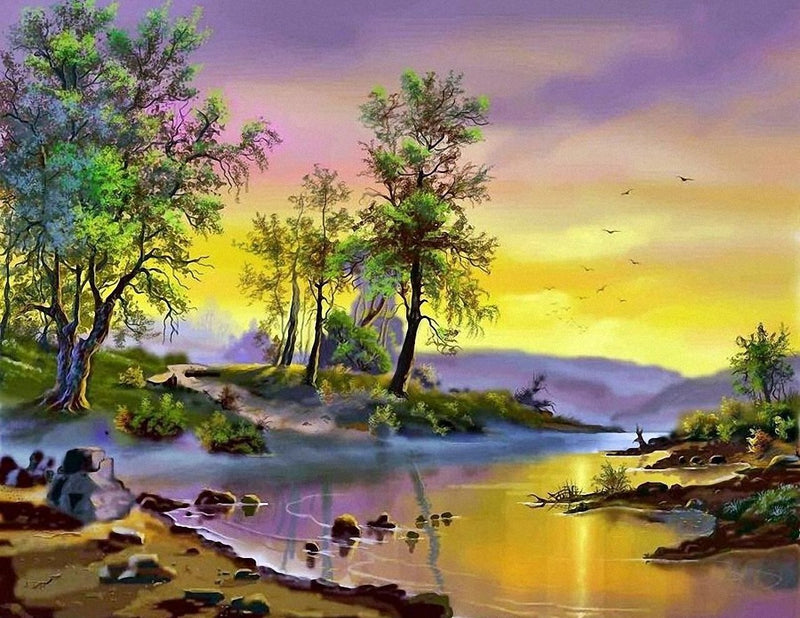 Landscape Nature Diy Paint By Numbers Kits PBN97901