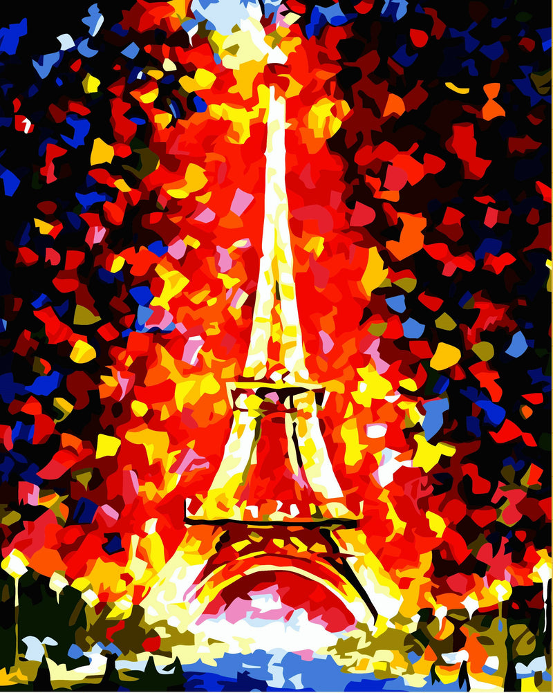 Landscape Eiffel Tower Diy Paint By Numbers Kits YM-4050-012 ZXE069
