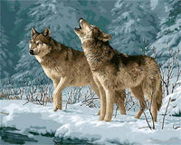 Animal Wolf Diy Paint By Numbers Kits PBN91626