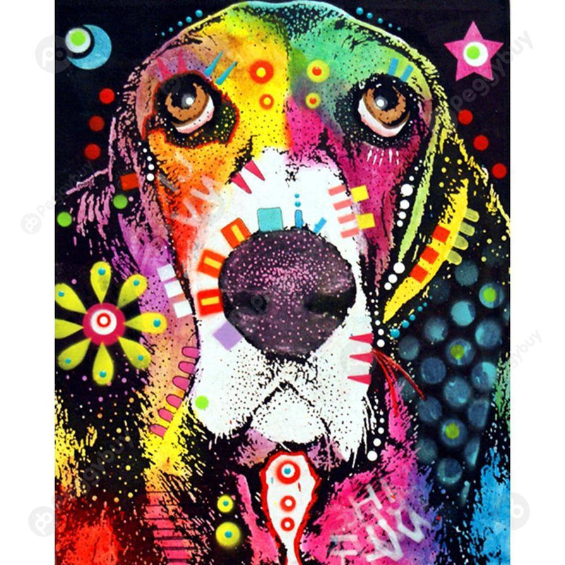 Colorful Dog Diy Paint By Numbers Kits PBN97834