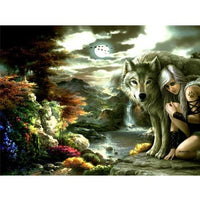 Animal Wolf Diy Paint By Numbers Kits PBN91757