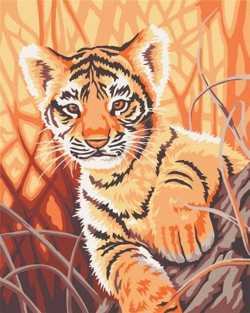 Animal Tiger Diy Paint By Numbers Kits PBN92269