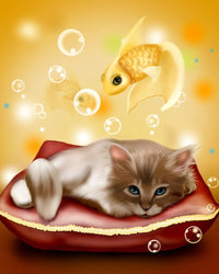 Cat Fish Diy Paint By Numbers Kits VM95417