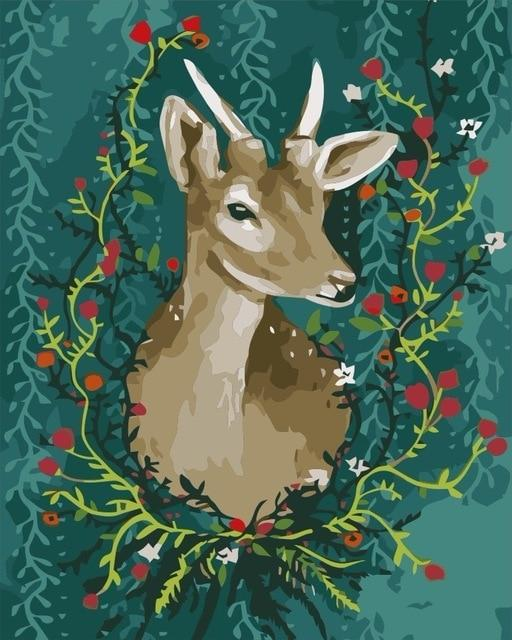 Deer Diy Paint By Numbers Kits PBN94204