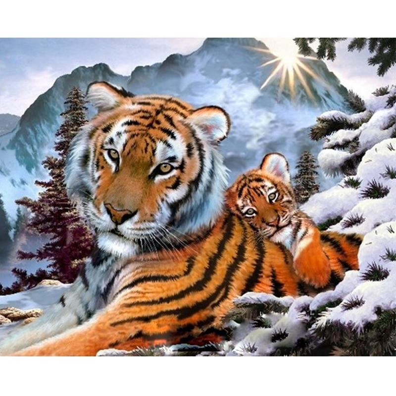 Tiger Diy Paint By Numbers Kits PBN96244
