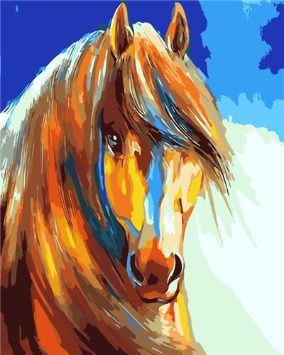 Horse Diy Paint By Numbers Kits PBN50257