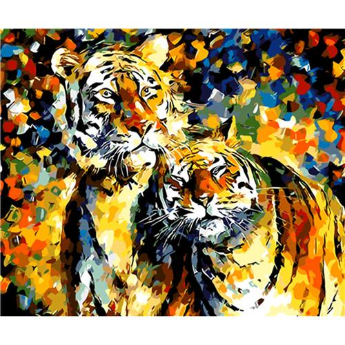 Tiger Diy Paint By Numbers Kits VM92792