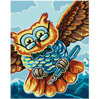 Colorful Owl Diy Paint By Numbers Kits PBN91193