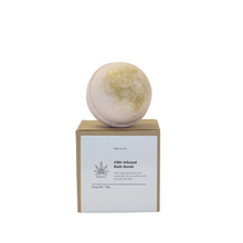 Load image into Gallery viewer, IDIR CBD Bath Bombs contain a full-spectrum CBD (CPR), Antioxidants and Essential Fatty Acids to defend against free radical damage to keep skin looking younger, longer.