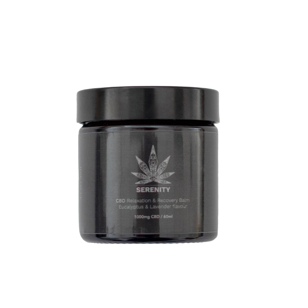 CBD Balm High Strength Eucalyptus & Lavender flavour - 1000mg CBD / 60ml Unique blend of all-natural ingredients instantly hydrates and moisturises the skin. Baume Hydratant de la marque Idir CBD. Hydratation et relaxation intense