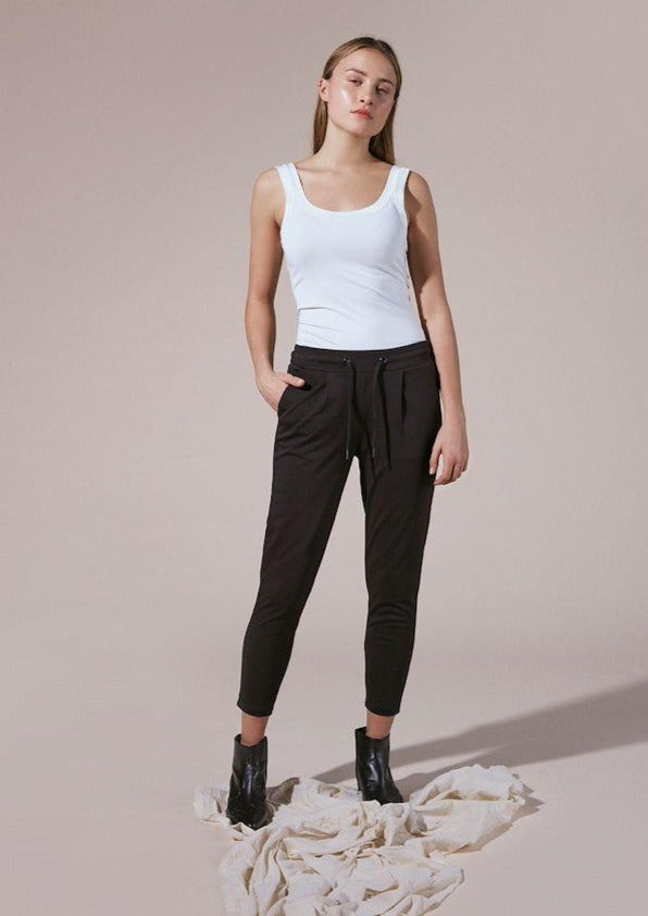 Ichi Kate Pants cropped black