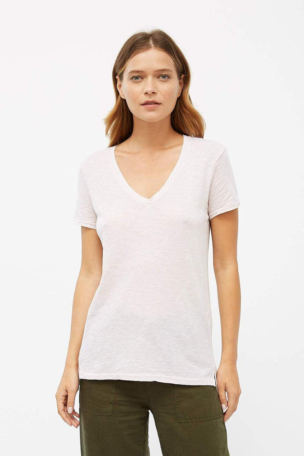 STATESIDE Slub V Neck T-shirt