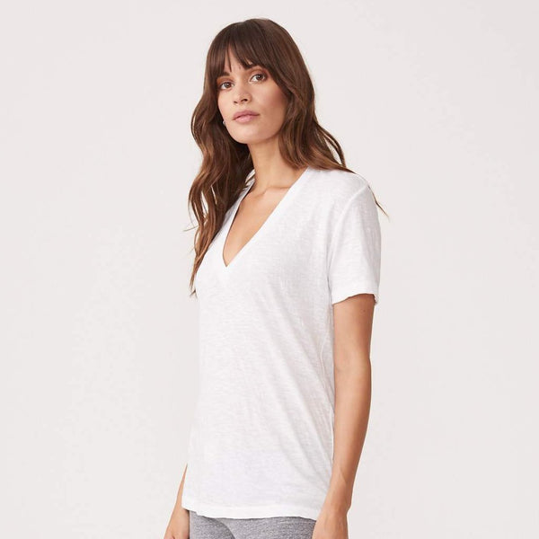 MONROW Textured Tri-Blend Relaxed vneck