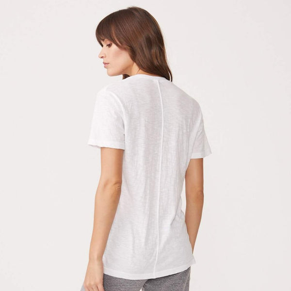 MONROW Textured Tri-Blend RELAXED V-Neck Tee