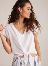 Load image into Gallery viewer, BELLA DAHL Tie Front V-Tee