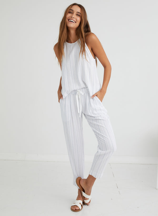 BELLA DAHL Fray Waistband Trouser