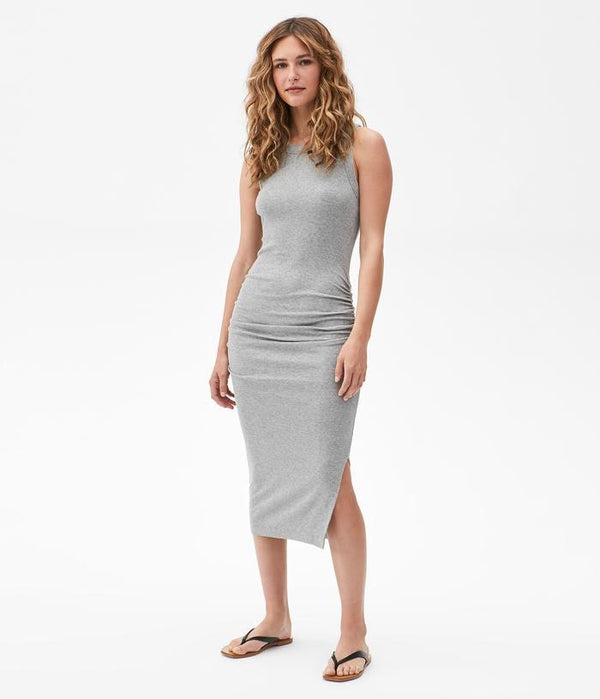 MICHAEL STARS Wren Midi Dress - heather gray