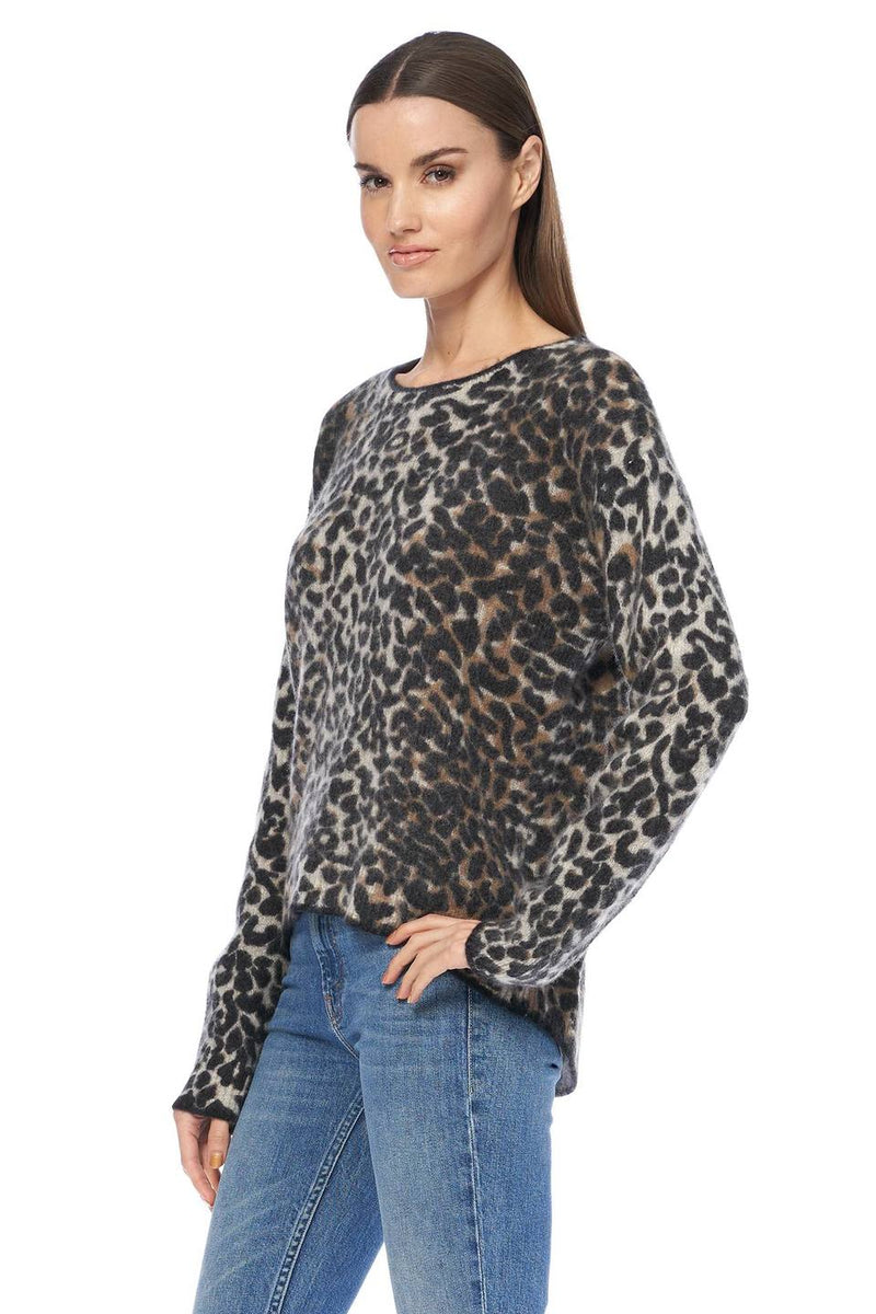 360 SWEATER Frankie Leopard Sweater