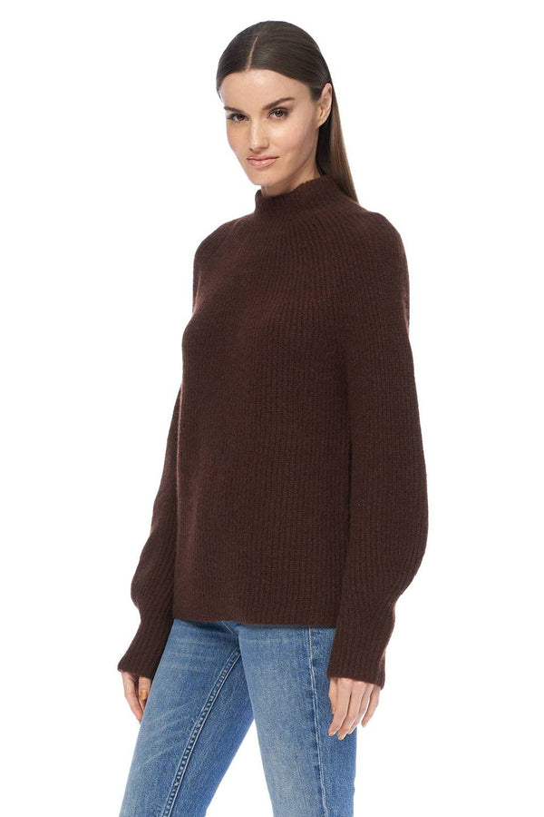 360 SWEATER Tamara Relaxed Mock Neck