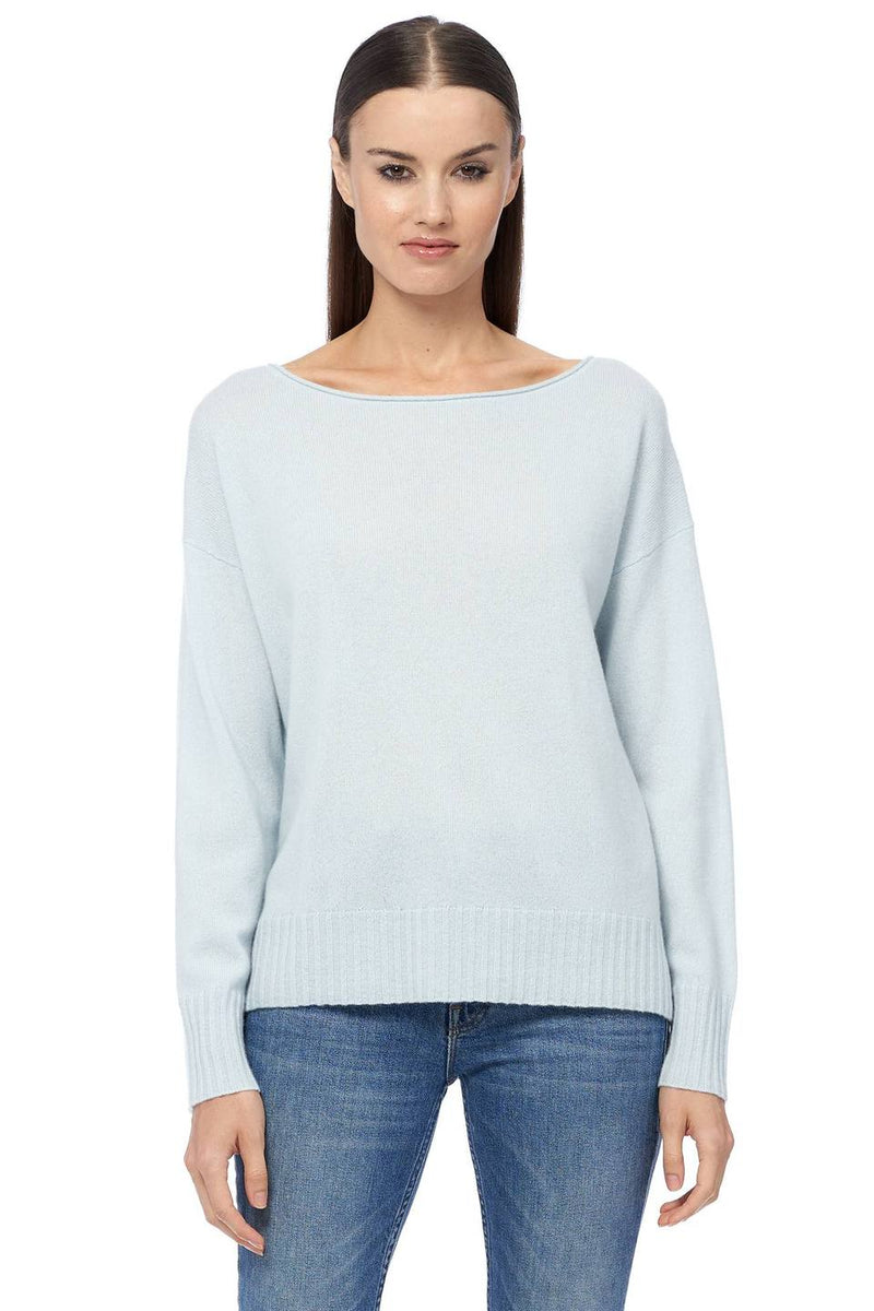 Sadie boatneck Cashmere sweater - mint
