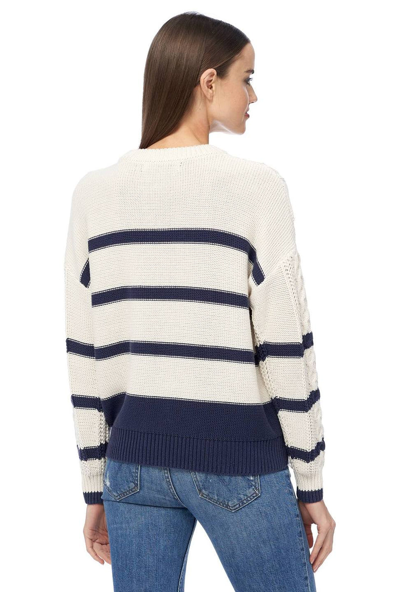 Camellia Striped Crew Neck Sweater