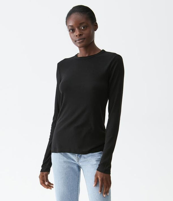 Kristen Long Sleeve Crew Neck Tee