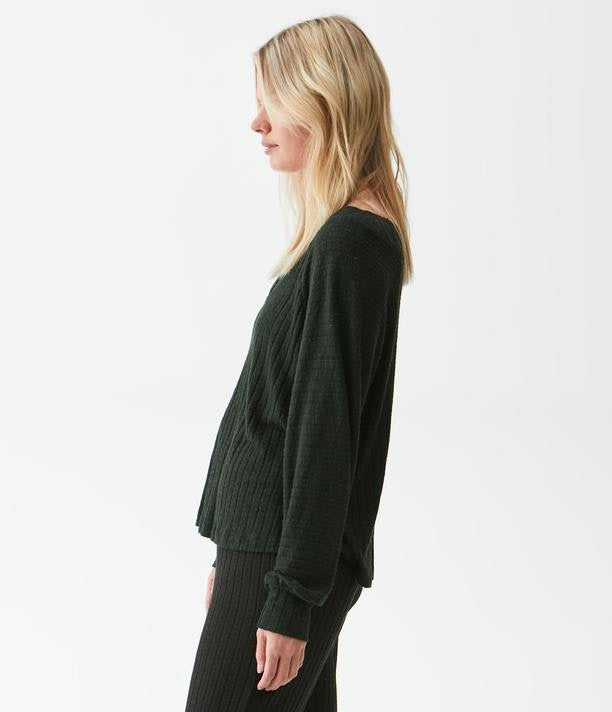 MICHAEL STARS Maddie V Neck Swing Top - Matcha
