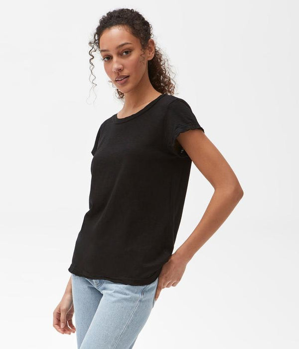MICHAEL STARS Supima Crew Neck Tee - Black