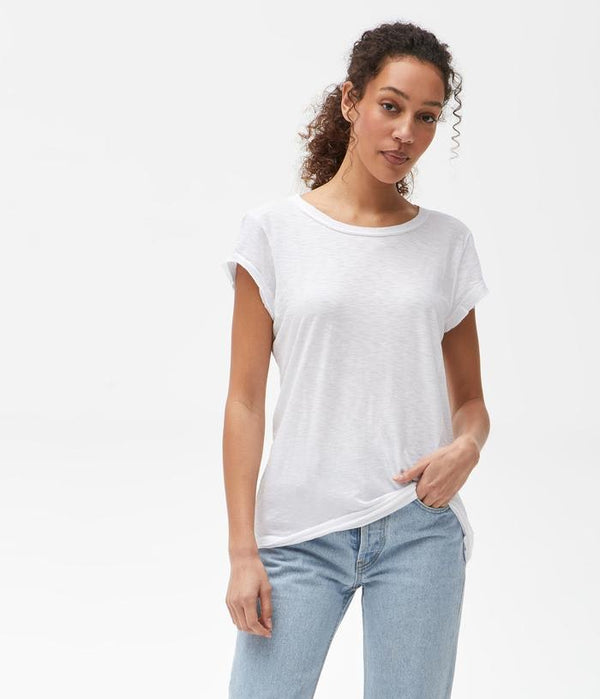 MICHAEL STARS Supima Crew Neck Tee - White