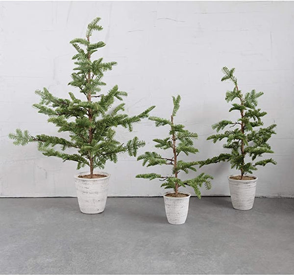 Faux Pine Tree in Pot - small