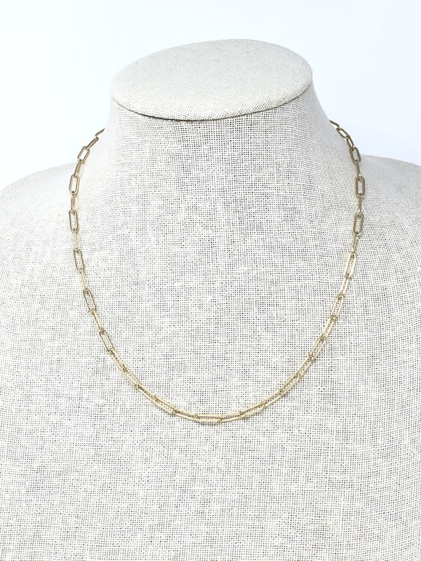 MARIT RAE Paperclip Link Necklace