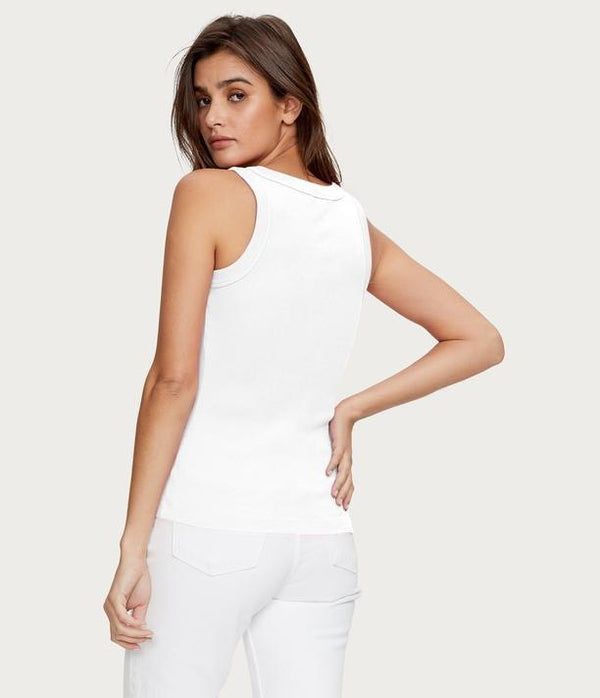 MICHAEL STARS  Paloma Wide Binding Tank- White