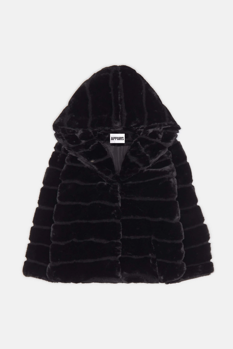 APPARIS Goldie Faux Fur Jacket - Black