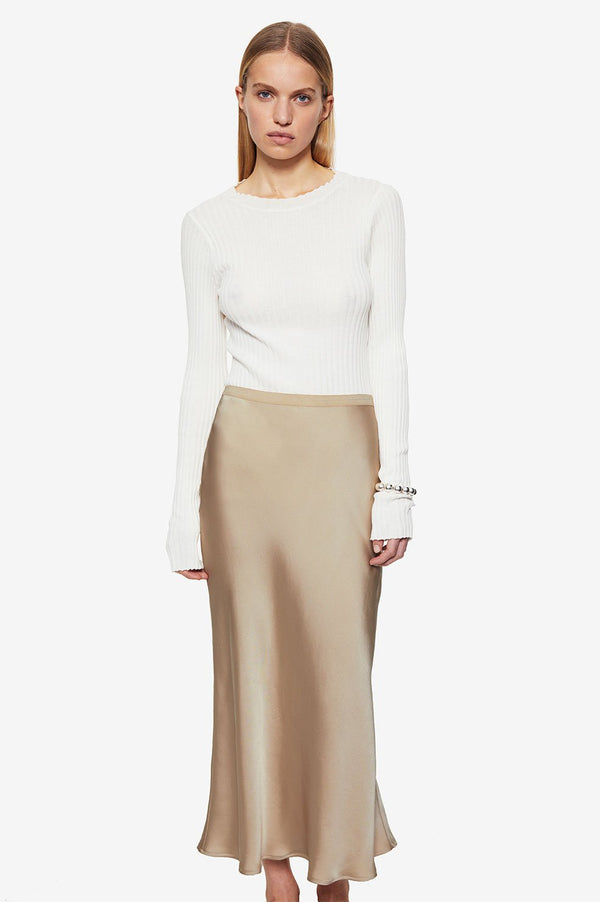 ANINE BING Bar Silk Skirt