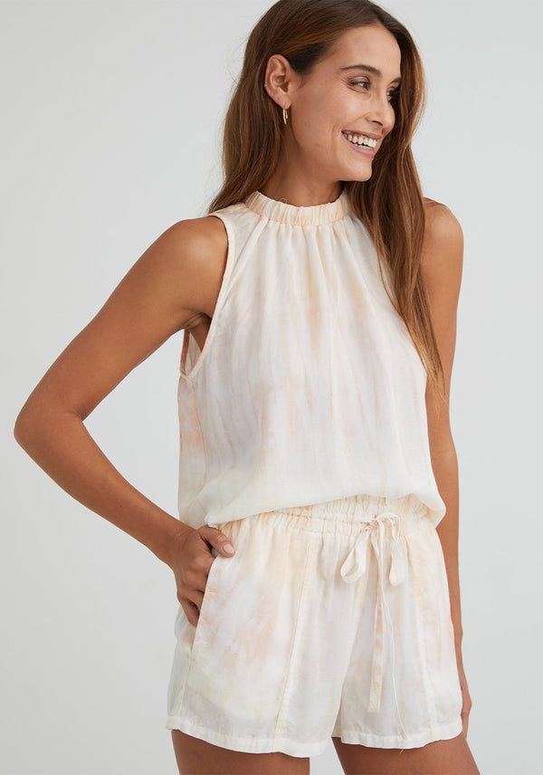 BELLA DAHL Sleeveless Elastic neck Blouse