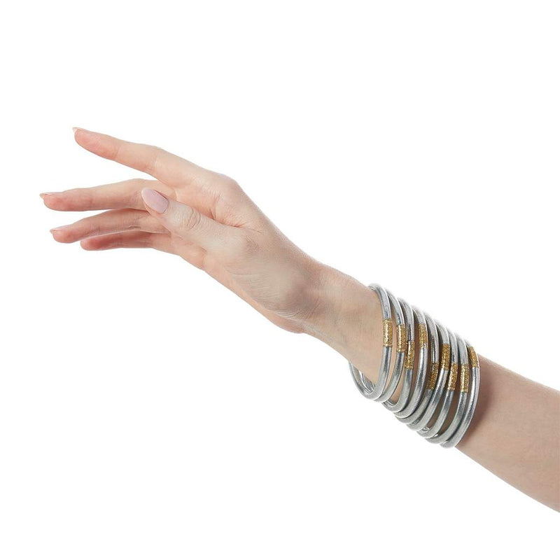 BUDHAGIRL ALL WEATHER BANGLES- Silver