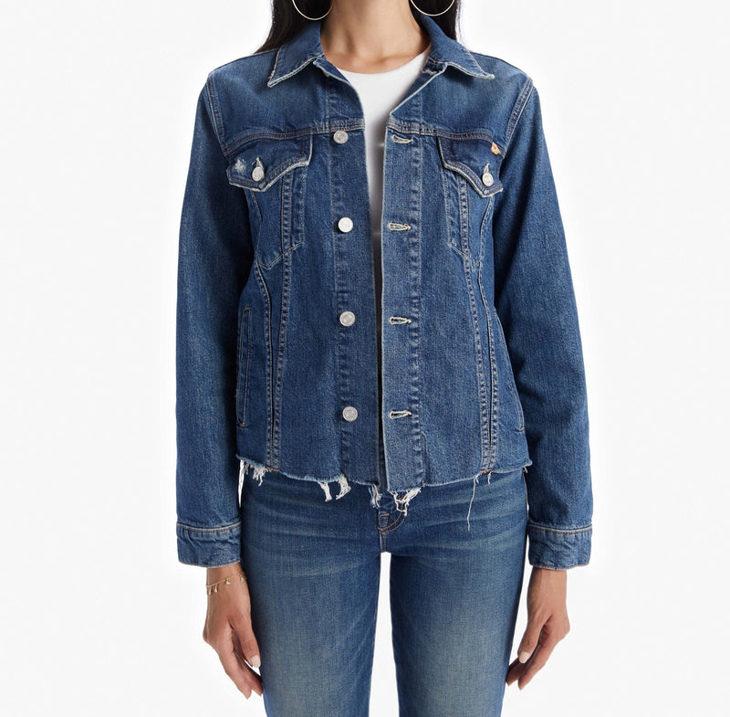 MOTHER The Cut Drifter Denim Jacket