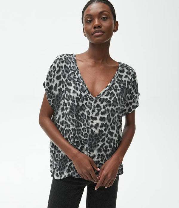 MICHAEL STARS Draya Leopard V-neck Top